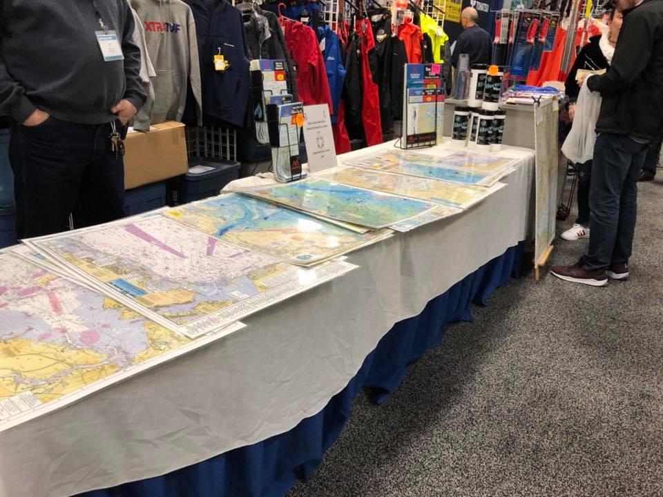 maps and products on display